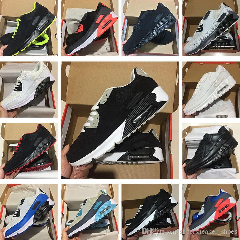 newest collection db86b 18770 Compre 2018 Moda Nike Air Max 90 Ultra Amortiguador Thea 87 Zapatillas Para  Hombres De Las Mujeres Al Aire Libre Zapatillas De Deporte Sirve Zapatos  Ligeros ...