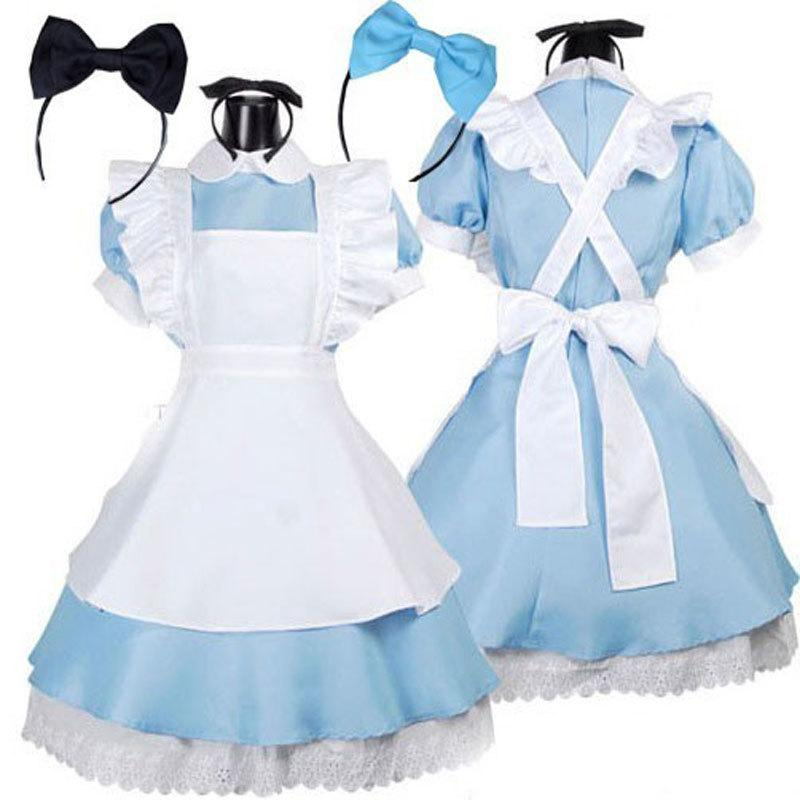 709b071d8dc 2019 Sexy Hot Sale Alice In Wonderland Costume Lolita Dress Maid Cosplay  Fantasia Carnival Halloween Costumes For Women S920 From Ruiqi03
