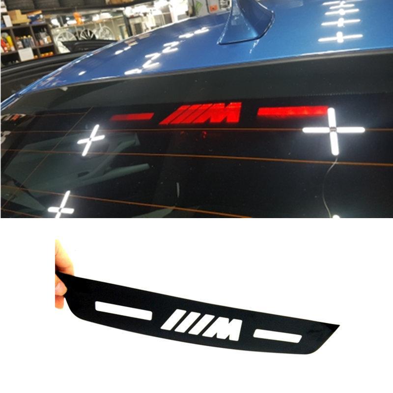 Großhandel Auto Styling Bremslicht Aufkleber Für Bmw M Logo E46 E90 E91 E93 E30 E30 F31 F35 F80 F10 F01 F02 F03 F04 3 5 7 Serie
