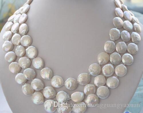 Incantevole collana di perle d'acqua dolce naturale da 11-12mm 45