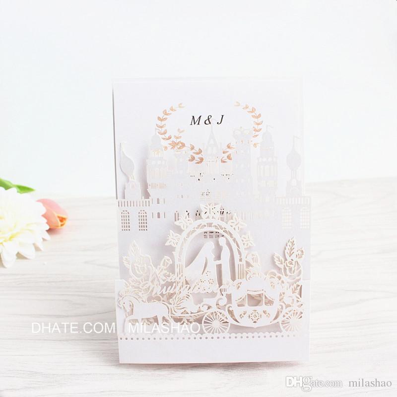 Do You Buy A Gift For A Destination Wedding: Pop Up Wedding Invitation Card Royal Weeding Engagement