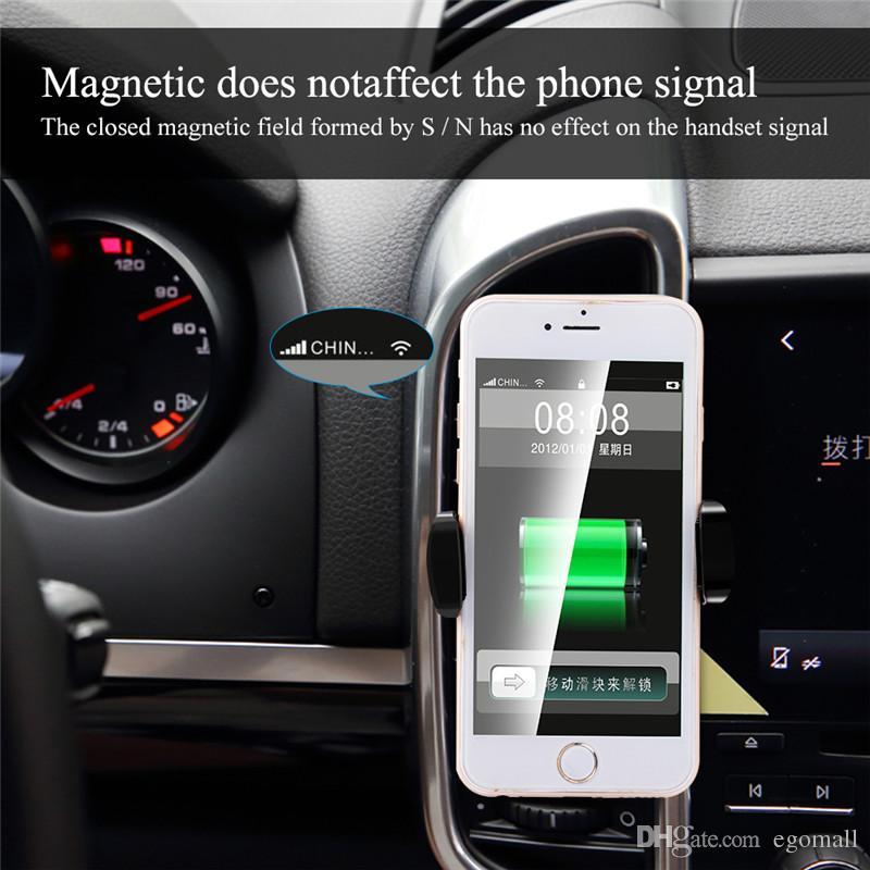Qi Wireless Car Charger 360 gradi di rotazione Titolare auto Qi Wireless caricatore Pad una X 7 8 più Samsung S8 Più