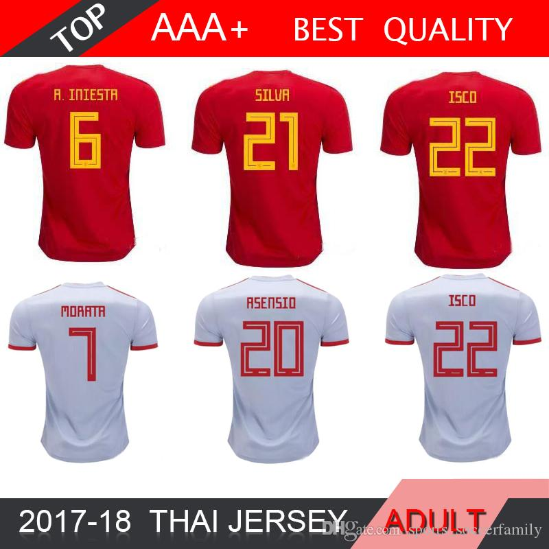 c2530f94b 2018 Spain Jersey Home Away Soccer Jersey 18 19 World Cup Home ...