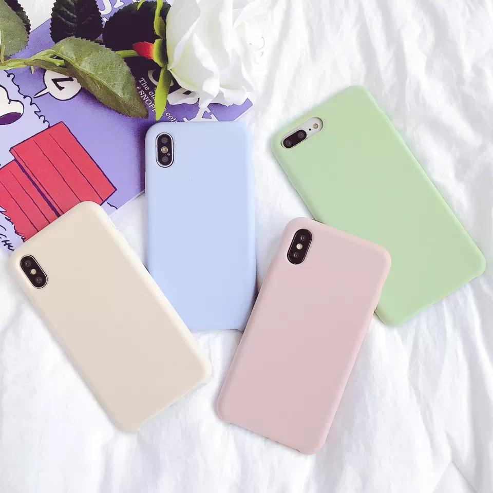 sports shoes bec03 ad391 Slim Soft Silicone Case Cover Candy Colors Matte Phone Cases Shell with  Dust Cap For iPhone X