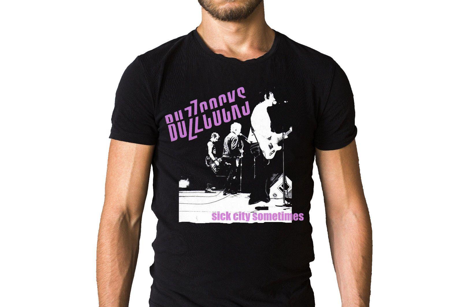 Buzzcocks Sick City Sometimes T Shirt Adult 100 Cotton Customized