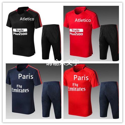fc227897be 2019 2018 Real Madrid Manches Courtes Combinaison 3/4 Pantalon De  Survêtement Atletico GRIEZMANN Nermar Jr MESSI Pedro Maillot De Foot  Survetemen From ...