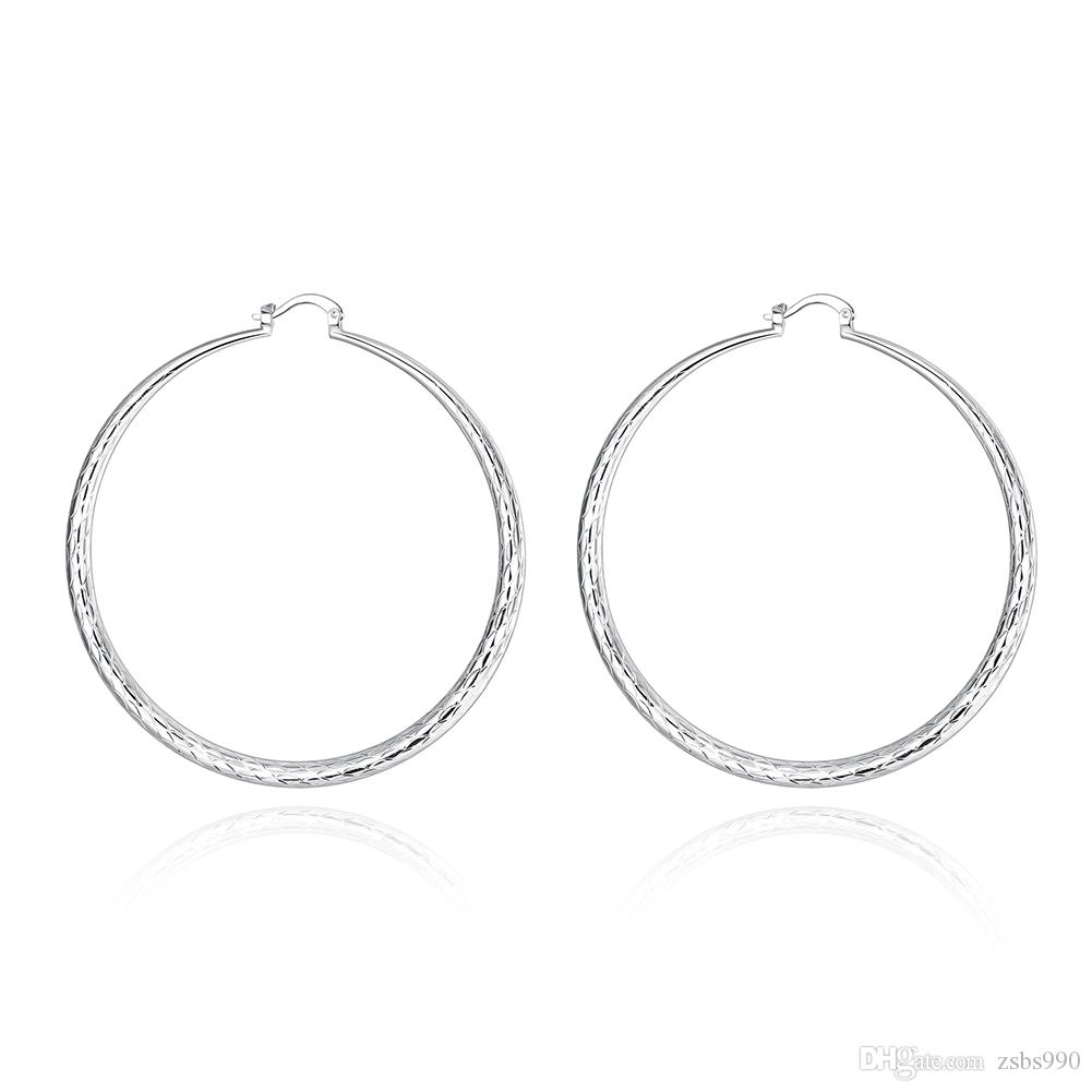 Gemengde bestelling Hoge kwaliteit 925 zilveren hoepel oorbellen mode-sieraden voor vrouwen gratis verzending /