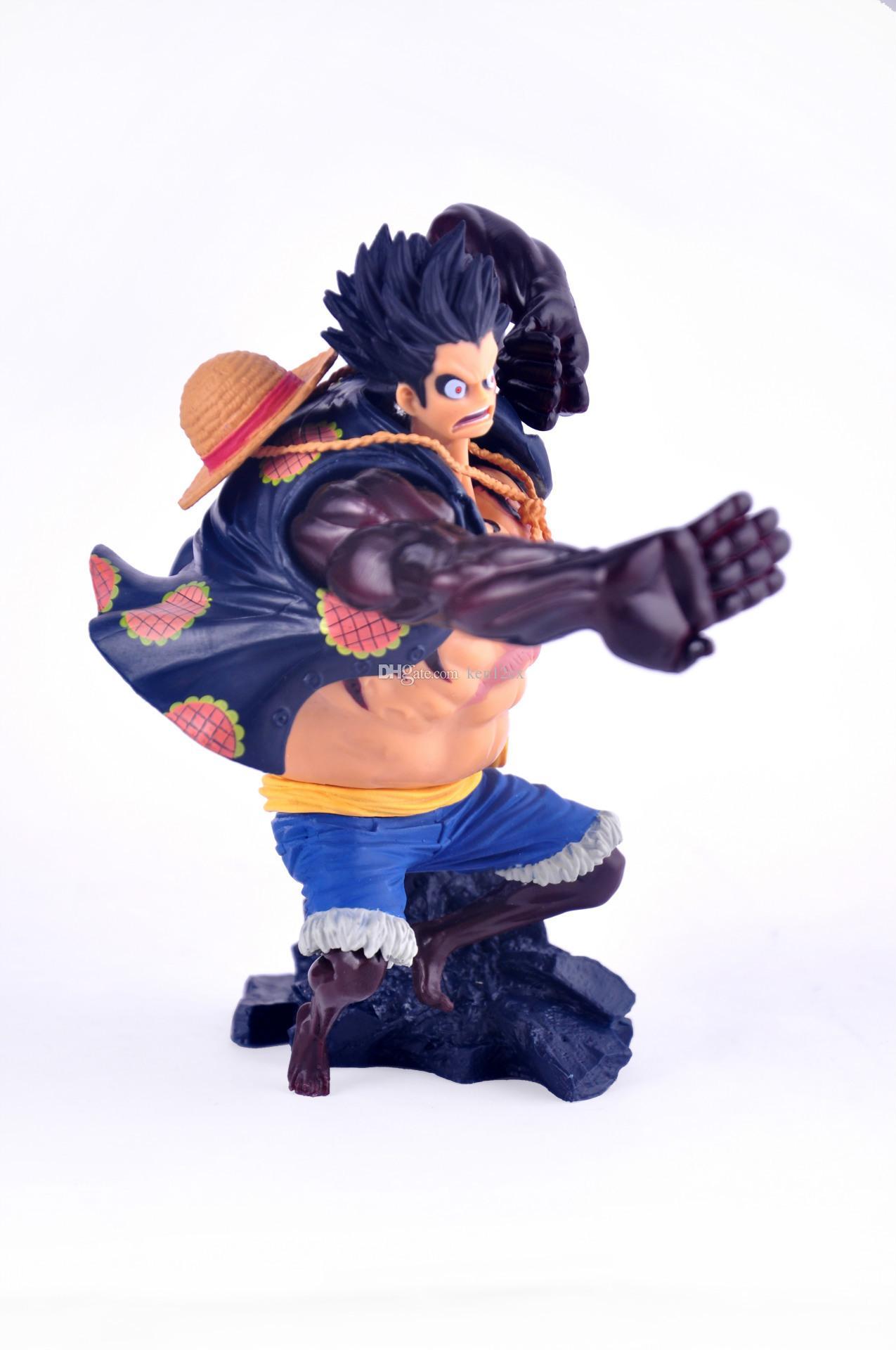 NOUVELLE chaude 17 cm One piece Gear quatrième Monkey D Luffy figure figurine jouets de Noël jouet avec boîte