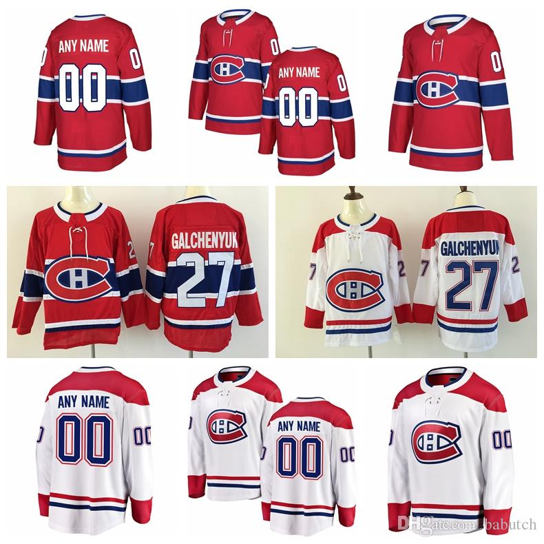 Customized Montreal Canadiens Hockey Jerseys Stitched Any Number ... 2474fe03d