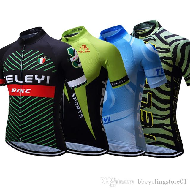 2018 Tour De France Pro Team MTB Cycling Jersey Top Shirts Maillot Ciclismo  Short Sleeve Summer For Men   Women Bike Clothes Quick Dry Waterproof  Cycling ... fff21b13b