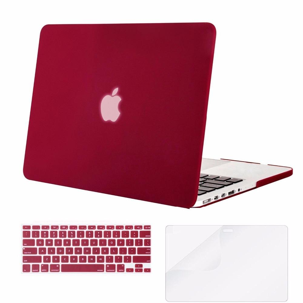 sale retailer 25d70 a78dc Mosiso Hard Shell Case for Macbook Pro 13 Retina 2013 2014 2015 A1502 A1425  + Silicone Keyboard Cover + Screen Protector
