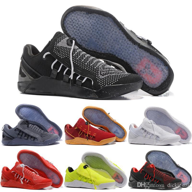big sale a3ab0 703ea Acheter Nike Kobe AD NXT Chaud 2018 KOBE A.D. NXT Chaussures De Basket Ball  KB 12 Mambacurial Hommes Sneakers Chaussures De Course De Sport Oreo Noir  Blanc ...