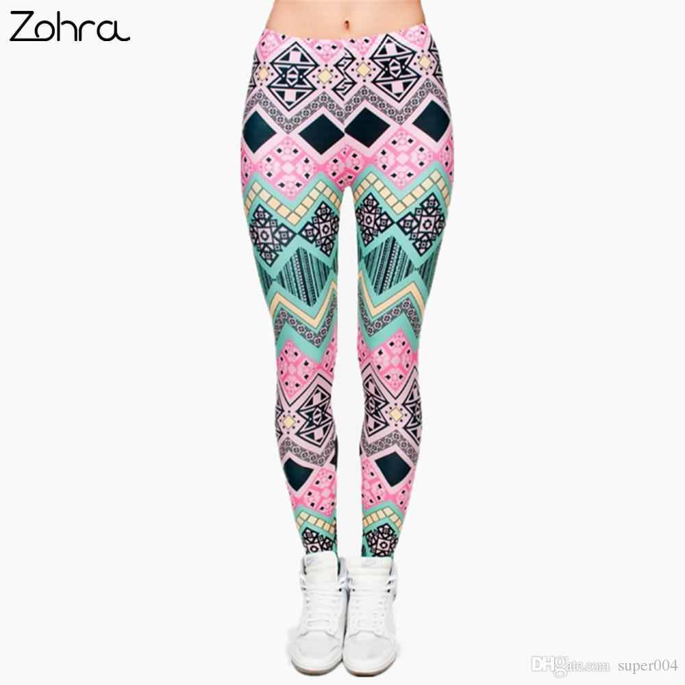 Acheter Zohra Marque Nouvelle Mode Aztèque Impression Legins Punk Femmes  Legging Pantalon Stretch Casual Slim Fit Pantalon Leggings De  5.87 Du  Super004 ... f6449023b52