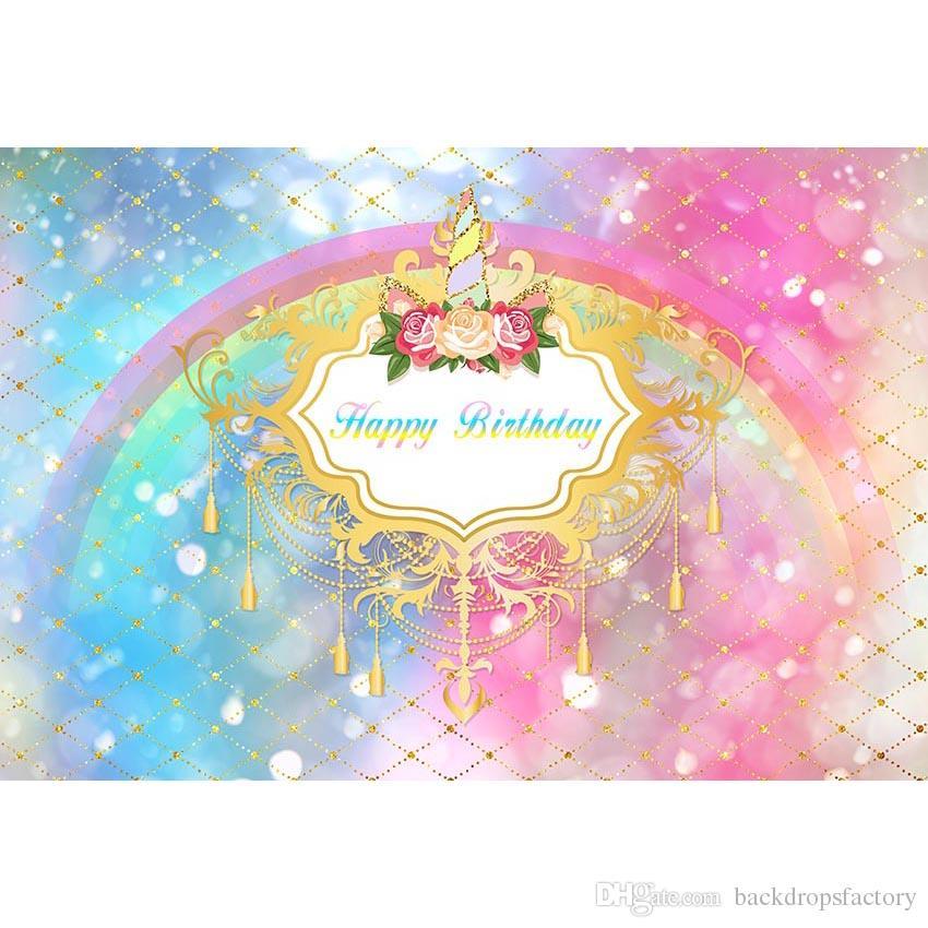Acquista Colore Pastello Blu E Rosa Colore Unicorn Party Sfondo