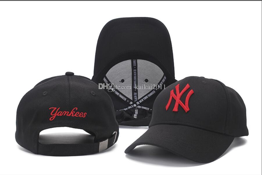 1d53cb6a2aa 2018 Hot Sale Men   Women Black Baseball Cap Embroidery Letter Red ...