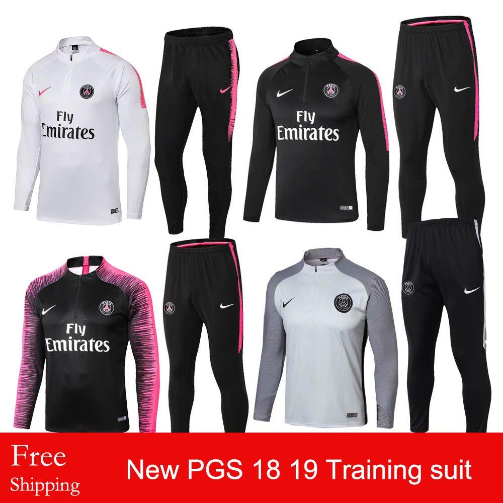 2019 Thailand Quality New 18 19 Season Paris Saint Germain Training Suit  2018 2019 Home Away Tracksuits PGS Soccer Jersey MBAPPE Training Suit From  ... d3da58d9c