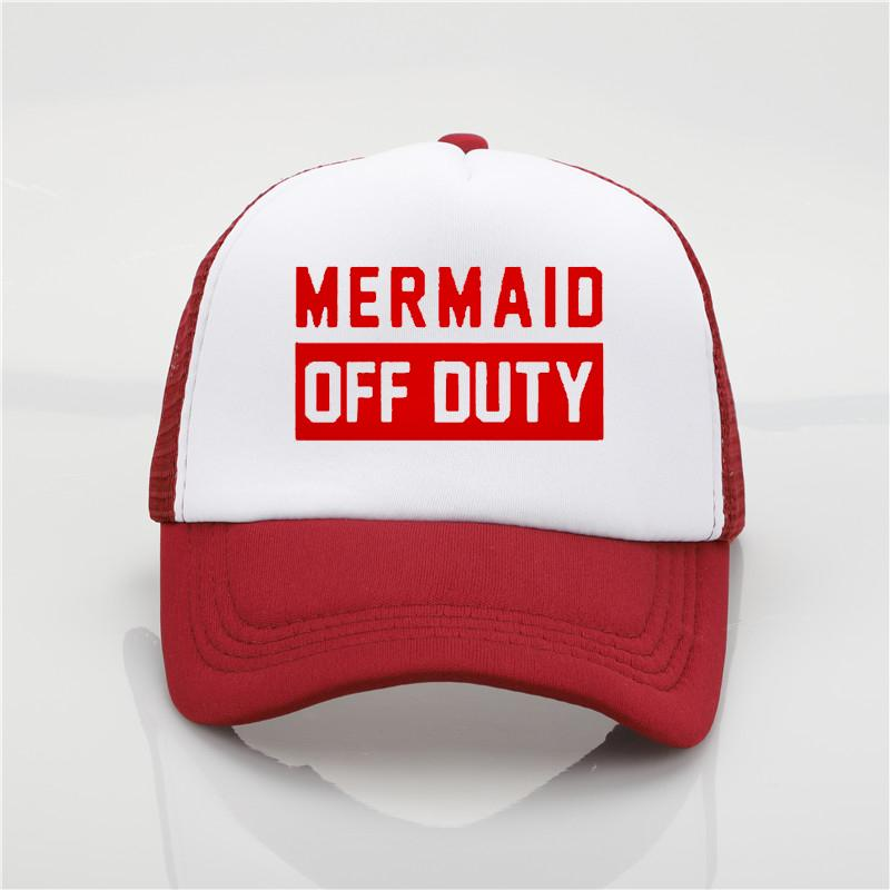 Fashion Hat Mermaid Off Duty Printing Net Cap Baseball Cap Men Women Summer  Trend Cap New Youth Joker Sun Hat Beach Visor Hat 47 Brand Hats Vintage  Baseball ... d1fde46c6e4