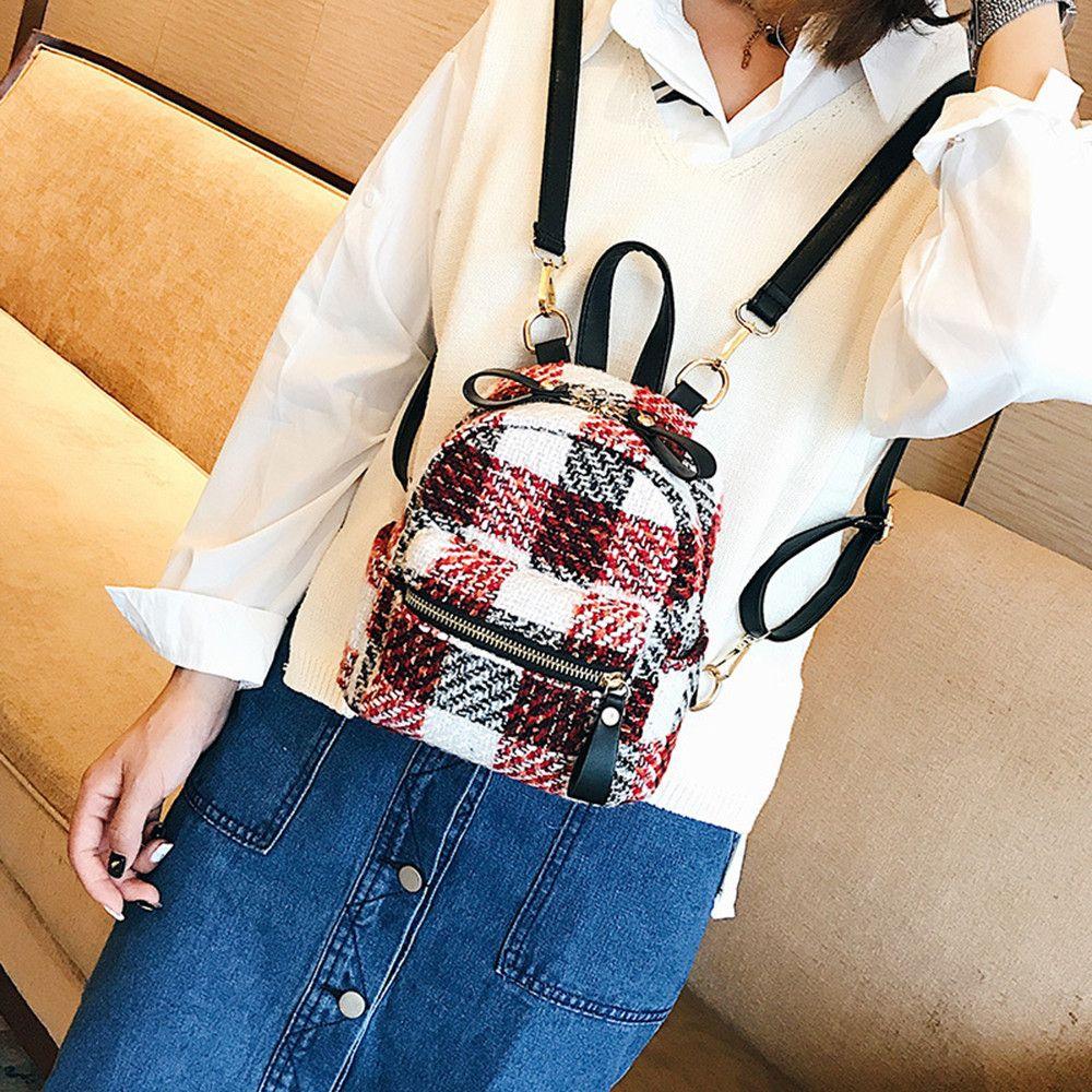 Travel Backpack Small Backpack Little Girl Mini Cute Simple Striped School  Bag Plaid Feminina College Backpacks Female Cheap Backpacks Rolling Backpack  From ... c6875dd9b9d2e