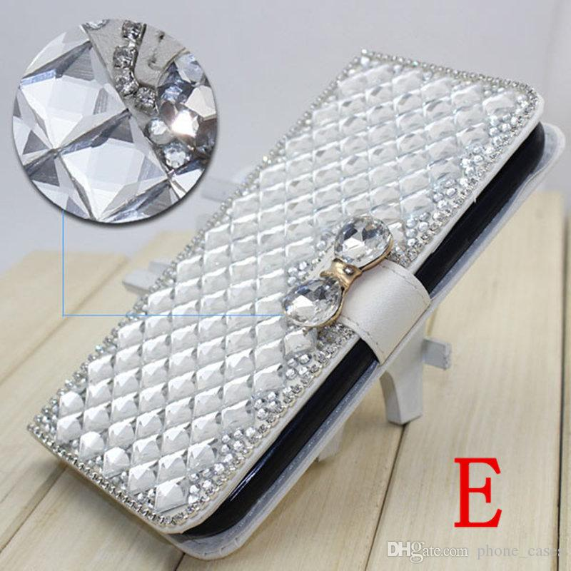 phone case For iphone x 8 plus 7 PLUS For Motorola MOTO X4 2017 Diamond Rhinestone crystal bling leather wallet case cover
