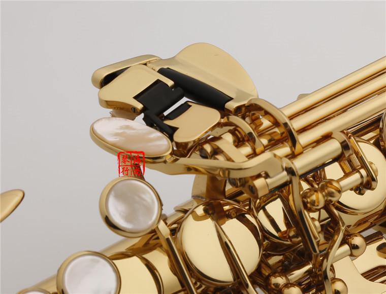 Yeni Varış YANAGISAWA S-991 S-WO10 Altın Kaplama Saksafon Soprano B B Dinle B Düz Sax Pirinç Enstrüman Ağızlık Kılıf Ile