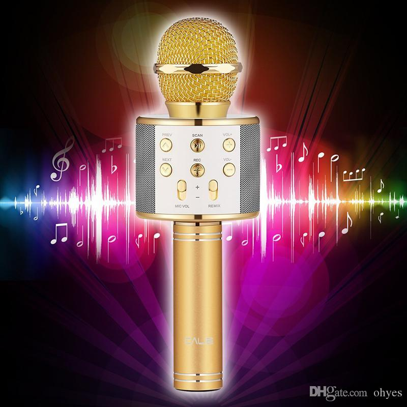 WS858 Bluetooth wireless Microphone HIFI Speaker Condenser Magic Karaoke Player MIC Record Music For Iphone Android Tablets PC by ohyes