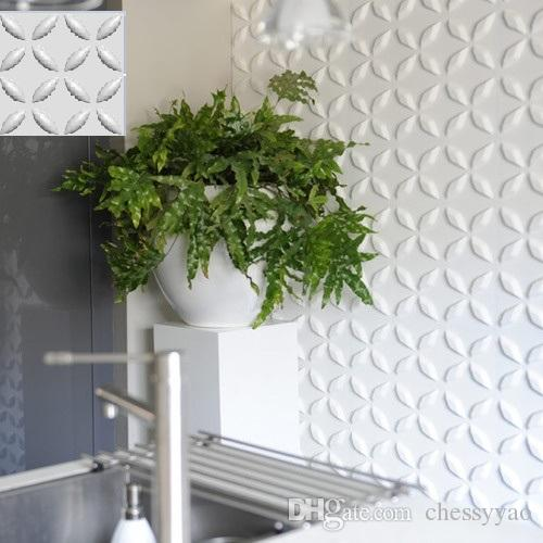 Estilo de decoración de castillo Más colorido Impermeable Floral Diseñado Ligero 3D Paneles de pared / techo de PVC
