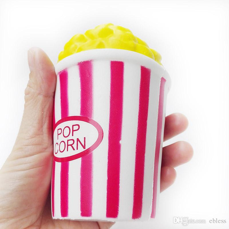 Kawaii Color Rojo Perfume Levantamiento Lento Popcorn Squishy Perfumado Squeeze Ventilación Relajación Popcorn Squishies Juguetes FD0010