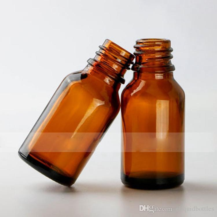 15ml Amber Glass Drop Bottles For Essential Oil Perfume , 0.5OZ Empty Portable Sample Bottles Refillable Essential Oil