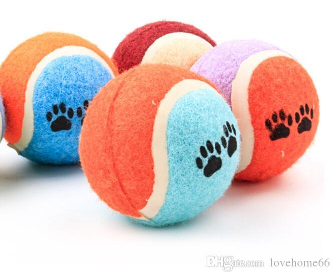 Pet Puppy Cat Dog Toys Dog love it cotton ball Rubber bell Toy for Pet Dog Cat with Sound Squeaker Squeaky Toys