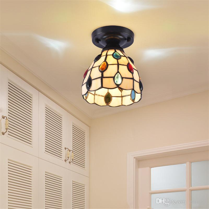 2018 tiffany ceiling light stained glass lampshade mediterranean sea 2018 tiffany ceiling light stained glass lampshade mediterranean sea style dining room input voltageac85 265v source power3w bulbsincl from cnmall aloadofball Choice Image