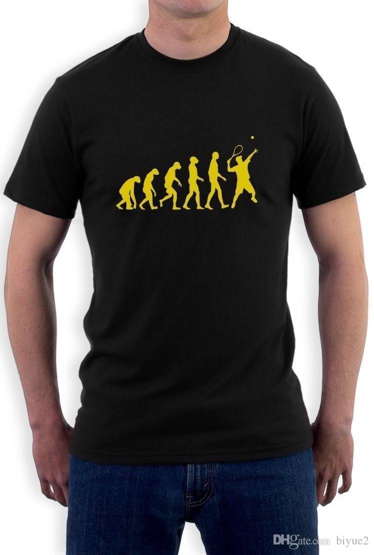 511f41dcd Evolution Of Tennis T Shirt Sports Darwin Cool Funny Ape Crewneck Tee Crew  Top O Neck T Shirt Harajuku Tops Tees Graphic Tee Shirts T Shirt Sayings  From ...
