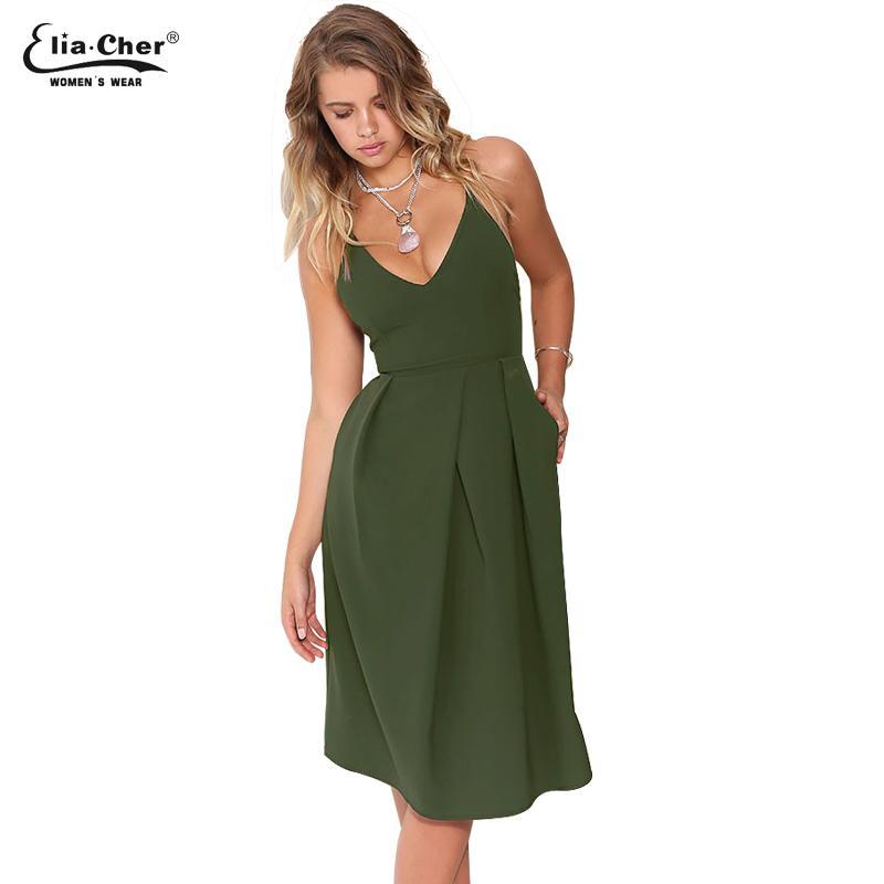 5bf3e8144210 Acheter Vente Chaude Femmes Robe Nouvelle Robes D été Eliacher Marque Plus  La Taille Casual Vêtements Féminins Soirée Midi Robes Robe 6225 De  40.88  Du ...