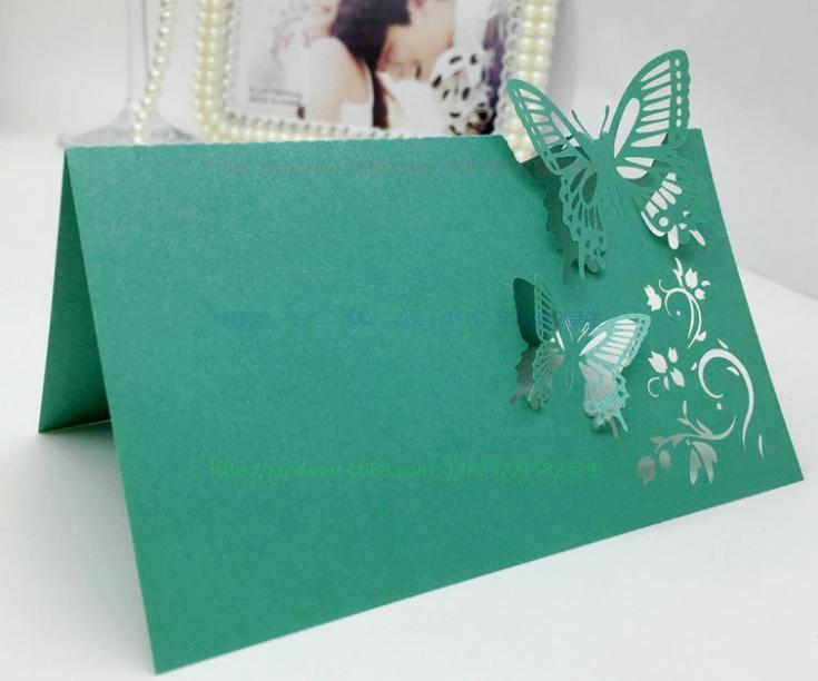 Laser Cut Wedding Place Card Table Card Guset Name Cards Hollow Butterfly Escort Card for Party