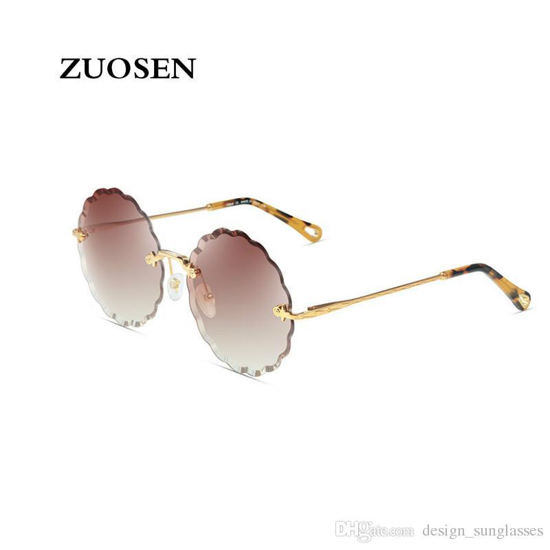 7aef3df70c ZUOSEN 2018 New Fashion Vintage Sunglasses for Women Flower Pattern ...