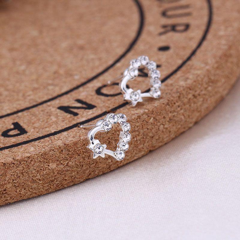 48 saat içinde nakliye, moda elmas takı toptan küpe platin elmas kristal taş küpe ücretsiz kargo pençe
