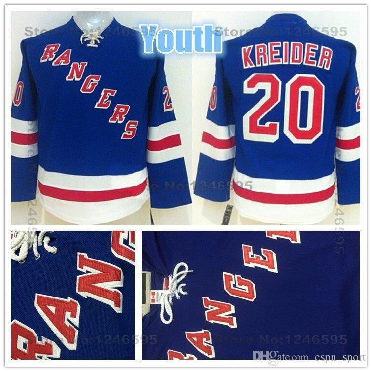 newest collection 3f687 0c65a 2015 Youth New York Rangers Jerseys Kids #20 Chris Kreider Jersey Youth  Home Blue Boys NY Rangers Cheap Chris Kreider Hockey Jersey