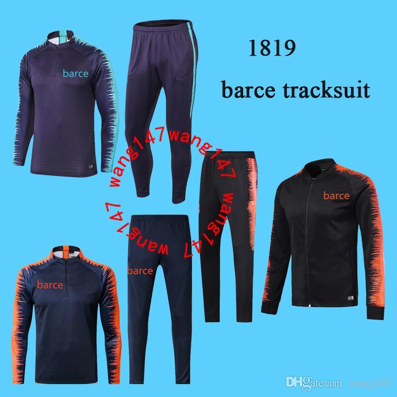 67bc3df704ecc Compre 2018 2019 Barcelona Chaqueta Suéter Messi Traje De Entrenamiento De  Fútbol Chandal Fútbol Chándal Adulto Flaco Pantalones Deportivos JACKET A   30.46 ...