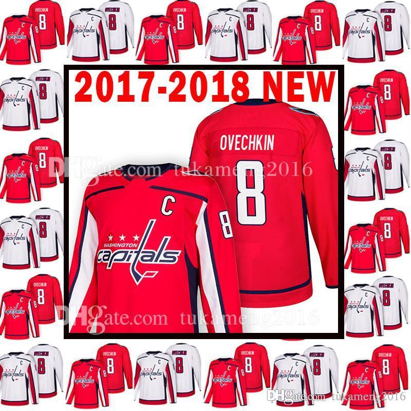 2017-2018 NEW Washington Capitals 8 Alex Ovechkin Jersey 18 Mens 8 ... be84d79fd