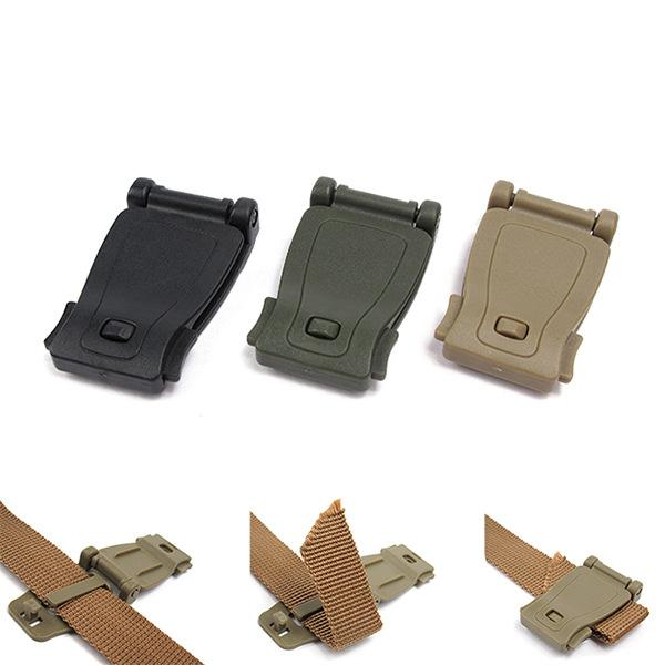 MEETEE Backpack Fixed Belt Tail Clip Buckle Outdoor Direct clamp connector Webbing Clipper High Quality Bag Accessories