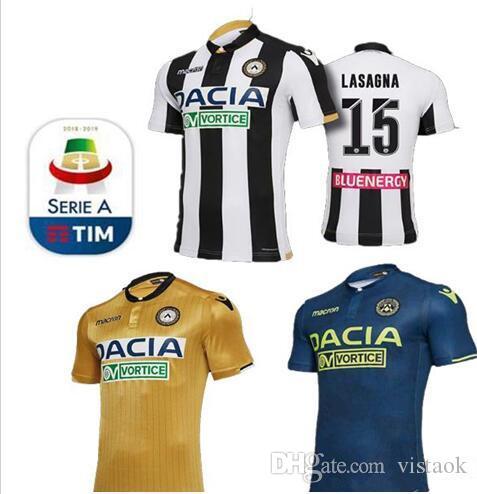 f6394e2ed9c7e 2018 2019 Camiseta De Fútbol Udinese Calcio 18 19 Casa Blanco Negro  Visitante 10 R DEPAUL 16 MACHIS 38 MANDRAGORA 11 BEHRAMI Camiseta De  Uniforme De Fútbol ...