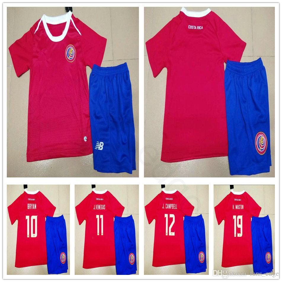 Kids costa rica soccer jerseys waston campell bryan venegas urena home red  men women youth custom 992c15983