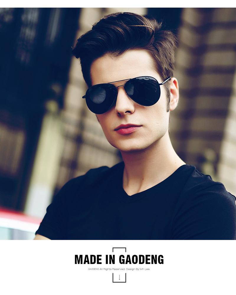 New LEIDISEN Attitude mens Sunglasses For Men Fashion 0260 design UV Protection Lens Square Full Frame Gold Color Plated Frame Come toys