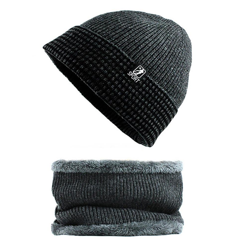 0643c72a9a9440 2019 Winter Mens Hat And Scarf Set Warm Knit Cap And Scarf Outdoor Winter  Knitted Wool Cashmere Warm Outdoor Male Cap From Yiyunwat, $38.11 |  DHgate.Com