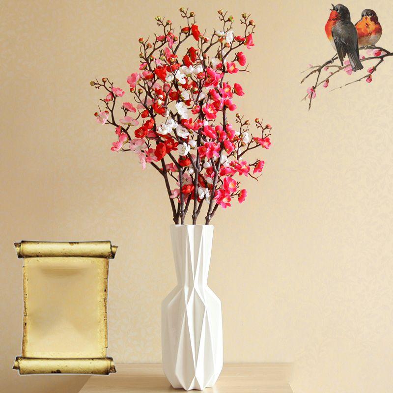 2019 90cm 32heads Cherry Blossom Plum Silk Flower Real Touch Flowers