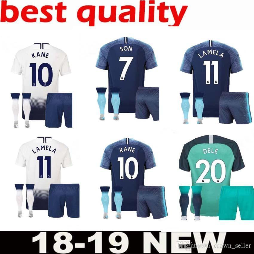 8aed7e441 ... denmark 2018 2018 hot spur 10 kane jersey adult suit soccer premier  league lamela 7 son
