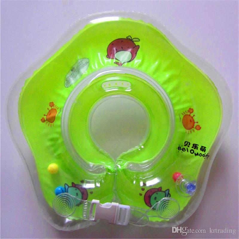 طفل الرقبة السباحة الدائري نفخ الملونة السباحة اكسسوارات الرضع الرقبة تعويم دائرة للاستحمام لعبة