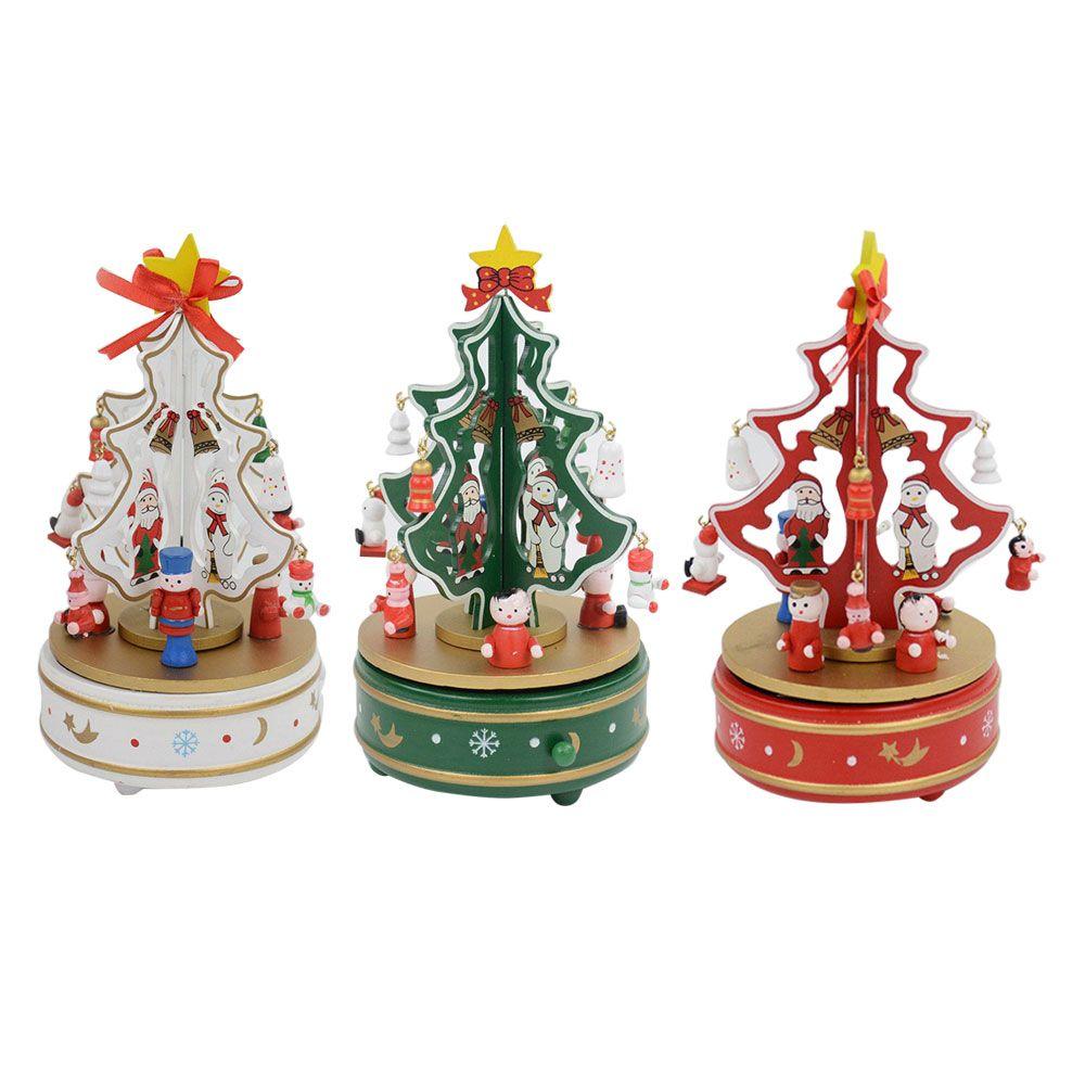 Christmas Tree Wood Music Box Christmas Decoration Gift Handmade ...