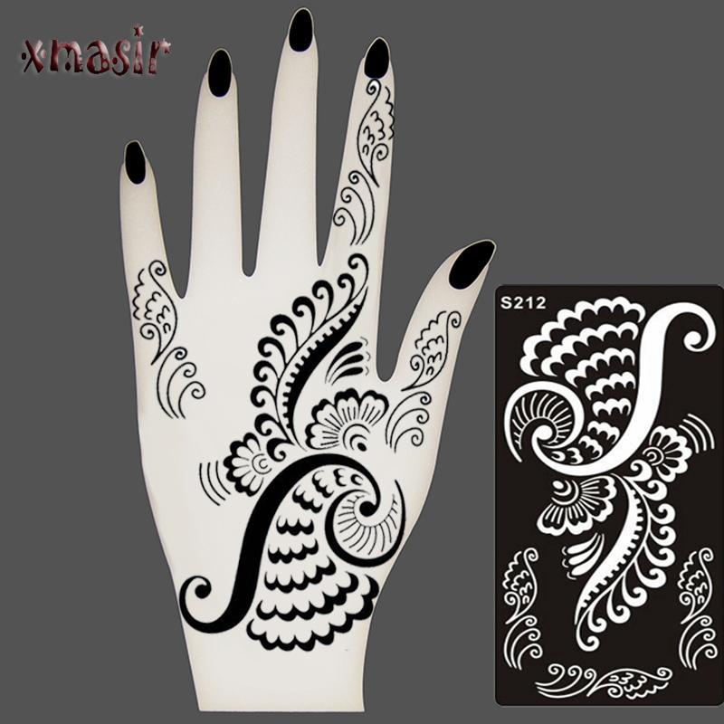 Großhandel 1 Stücke Temporäre Glitter Airbrush Henna Tattoo Vorlagen