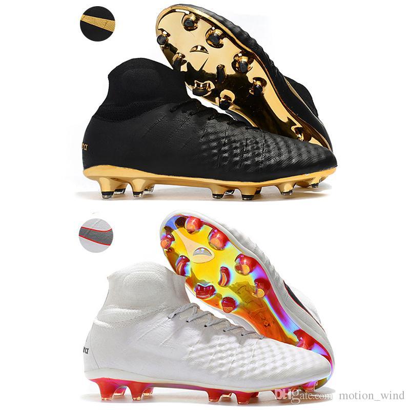 Compre 2018 Nuevo Para Hombre Botines De Fútbol Tobillo 3D Magista Obra II  FG Zapatos De Fútbol Superfly ACC Magista Obra 2 Botines De Fútbol Al Aire  Libre ... 45c2326049454