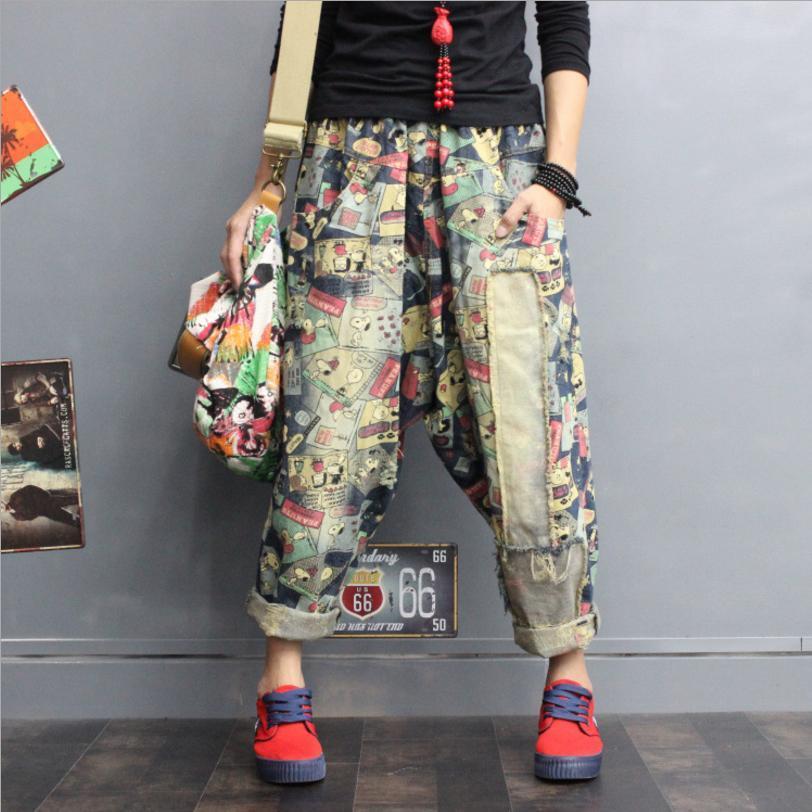 1b6924be4b1a Япония Стиль Плюс размер женщин 2018 новый хип-хоп прохладный джинсы  женский ...